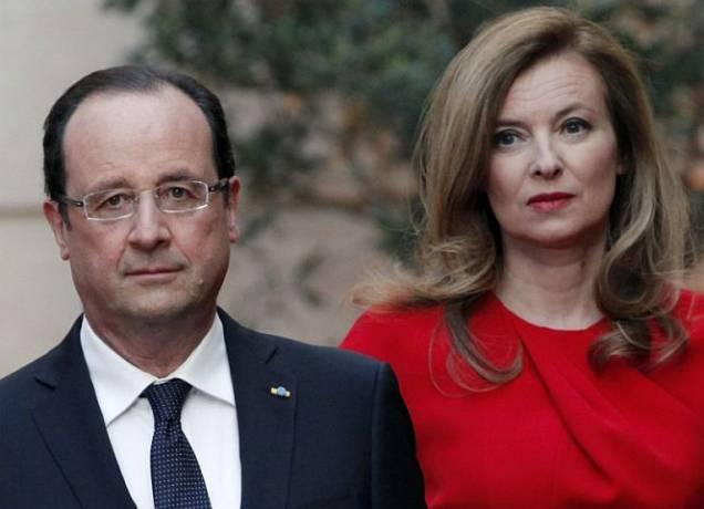 François Hollande und Valérie Trierweiler.